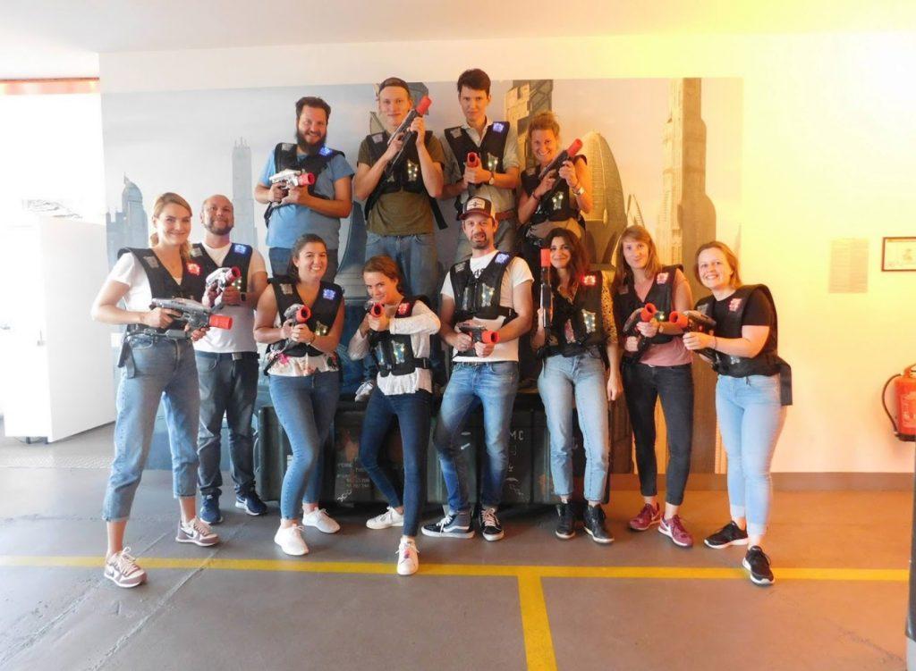 LaserLoft St. Pauli - Lasertag St. Pauli Gruppe vor dem Spiel